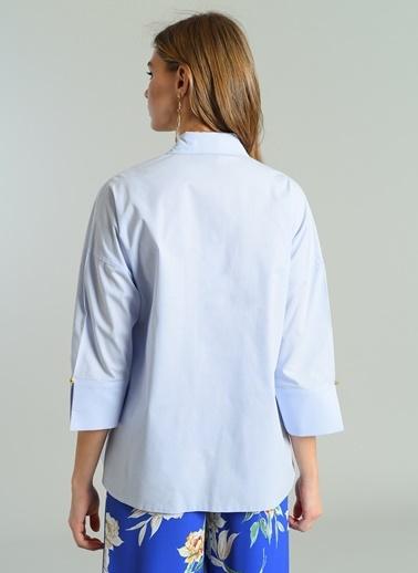 Kolları Yırtmaç Detaylı Gömlek-Agenda